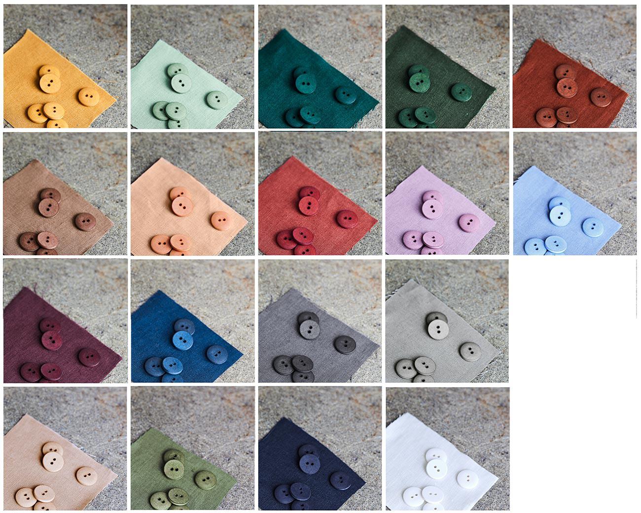 mind the MAKER Curb Cotton Button Knöpfe aus 100% Baumwolle