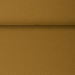 ORGANIC FRENCH TERRY BRUSHED MUSTARD GOLD