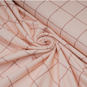 ORGANIC FRENCH TERRY GRID ROSE/TERRA