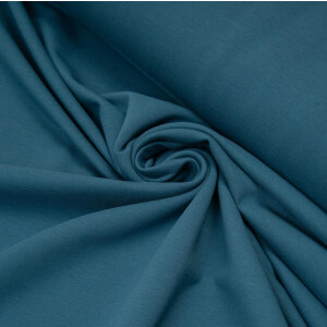 ORGANIC FRENCH TERRY BASIC STEEL BLUE