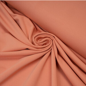 ORGANIC FRENCH TERRY BASIC PEACH PINK