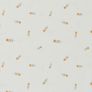 ORGANIC JERSEY WATERCOLOR TINY FLOWERS OFFWHITE