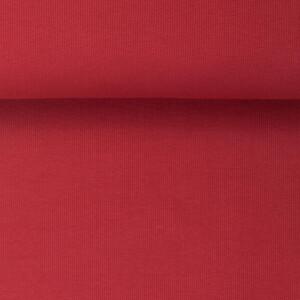 ORGANIC RIB 2X2 POMEGRANATE RED