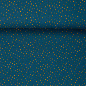 ORGANIC FRENCH TERRY BRUSHED SCRATCH BLUE