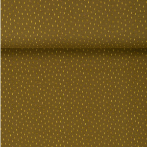 ORGANIC FRENCH TERRY BRUSHED SCRATCH OLIVE