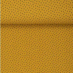 ORGANIC FRENCH TERRY BRUSHED SCRATCH OCHRE