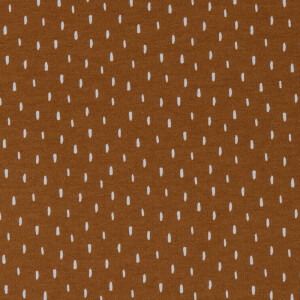ORGANIC FRENCH TERRY BRUSHED SCRATCH COGNAC