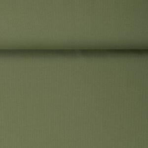 ORGANIC 2X2 RIBBING OLIVE GREEN