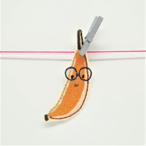 EMBROIDERED PATCH BANANA