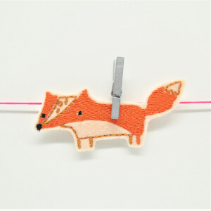 EMBROIDERED PATCH FOX