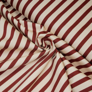 TWILL VERTICAL STRIPES OFFWHITE/WINE