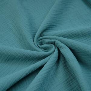 ORGANIC DOUBLE GAUZE BASIC MILKY BLUE
