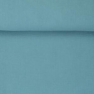 ORGANIC DOUBLE GAUZE BASIC PORCELAIN BLUE