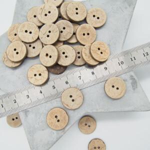COCONUT BUTTON NATURE 15 mm
