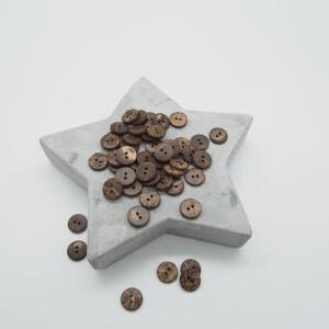 COCONUT BUTTON DARK BROWN 12 mm
