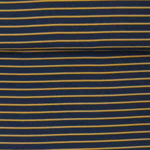 FRENCH TERRY YARN DYED STRIPES NAVY