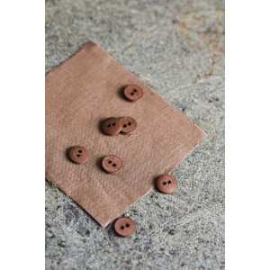 CURB COTTON BUTTON 11 mm OLD ROSE