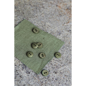 CURB COTTON BUTTON 11 mm OLIVE GREEN