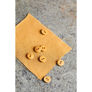 CURB COTTON BUTTON 11 mm DRY MUSTARD
