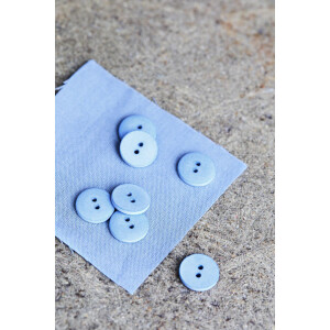 CURB COTTON BUTTON 18 mm FADED BLUE