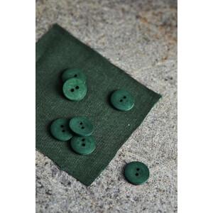 CURB COTTON BUTTON 18 mm GREEN KHAKI