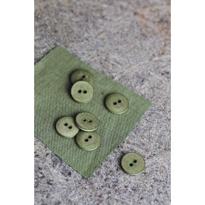 CURB COTTON BUTTON 18 mm OLIVE GREEN