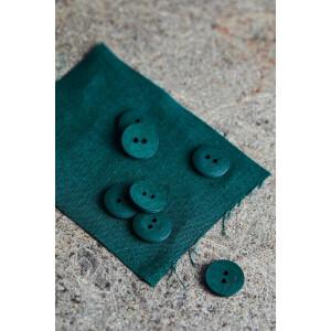 CURB COTTON BUTTON 18 mm BOTTLE GREEN