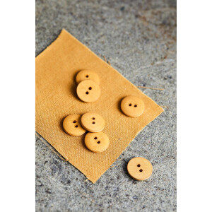 CURB COTTON BUTTON 18 mm DRY MUSTARD
