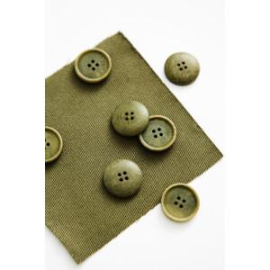 BLAZE COROZO BUTTON 20 mm OLIVE GREEN