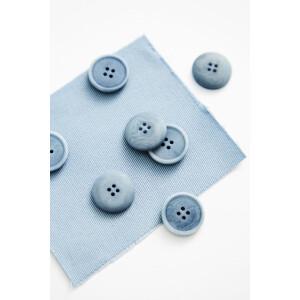 BLAZE COROZO BUTTON 20 mm FADED BLUE
