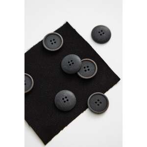 BLAZE COROZO BUTTON 20 mm BLACK