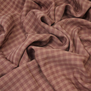 TENCEL CHECK TWILL OLD ROSE
