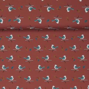 JERSEY BIRDS ON TWIGS TERRACOTTA