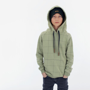 FRENCH TERRY THIN GRID TEA GREEN