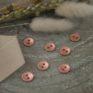 SMOOTH BUTTON 10 MM ROSE COPPER