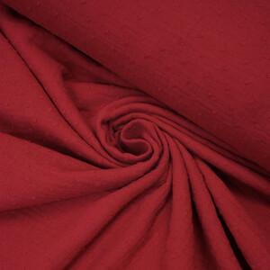 ORGANIC DOUBLE GAUZE PLUMETI RED APPLE