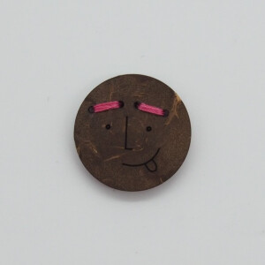 COCONUT BUTTON FUNNY FACES FRITZI 18 mm