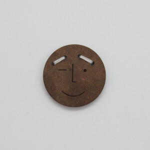 COCONUT BUTTON FUNNY FACES FRIIS 23 mm