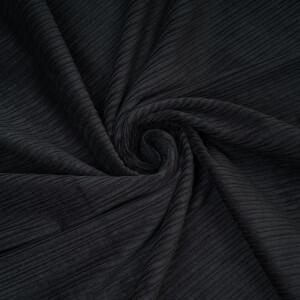 CORDUROY HIGH-LOW BLACK