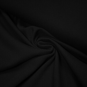 ORGANIC 2X2 RIBBING BLACK