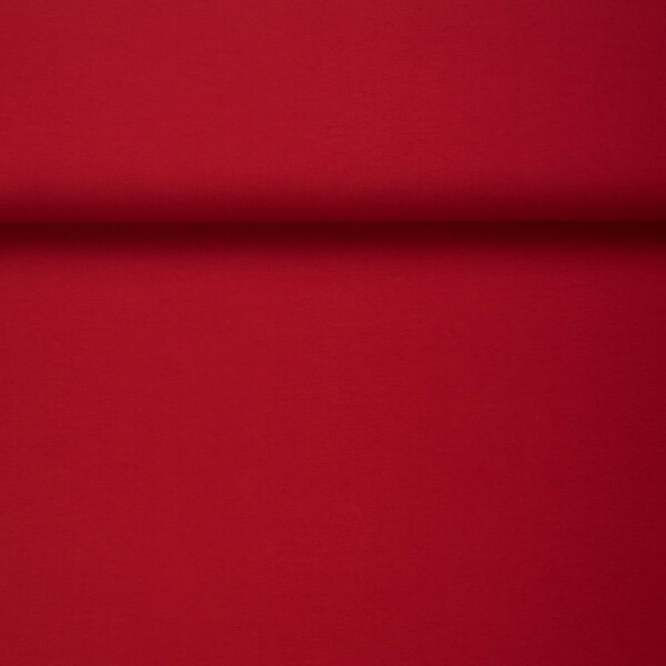 ORGANIC JERSEY BASIC POMEGRANATE RED