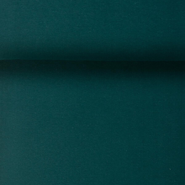 ORGANIC RIB 1X1 PINE GREEN
