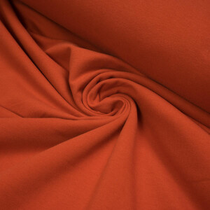 ORGANIC FRENCH TERRY BRUSHED MARS RED