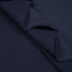 ORGANIC FRENCH TERRY BRUSHED DENIM BLUE