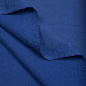 ORGANIC FRENCH TERRY BRUSHED DAZZLING BLUE