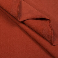 ORGANIC FRENCH TERRY BRUSHED CHIMNEY RED
