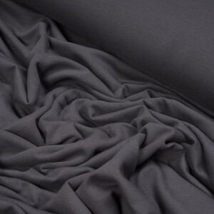 ORGANIC FRENCH TERRY BRUSHED SLATE GRAY