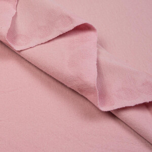 ORGANIC FRENCH TERRY BRUSHED ORCHID PINK