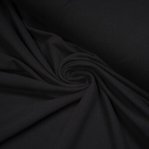 ORGANIC FRENCH TERRY BRUSHED COAL BLACK