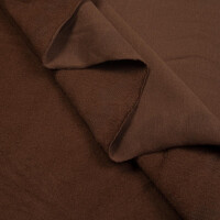 ORGANIC FRENCH TERRY BRUSHED WALNUT BROWN